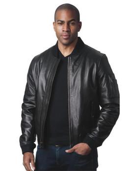 Contemporary Leather Flight Jacket