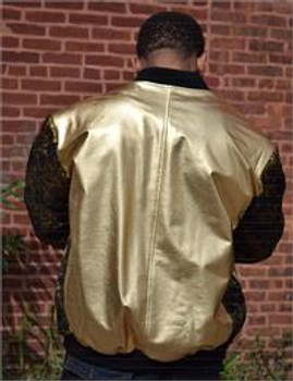 Gold Leather and Cloth Jacket