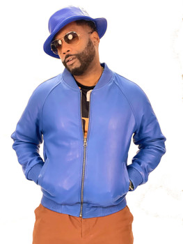 Royal Blue Butter Soft Baseball Leather Jacket