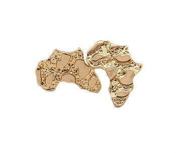Gold Nugget Africa Stud Earrings
