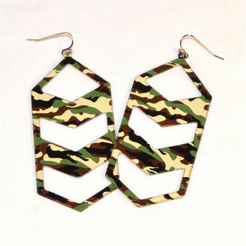 Camoflauge military style earrings