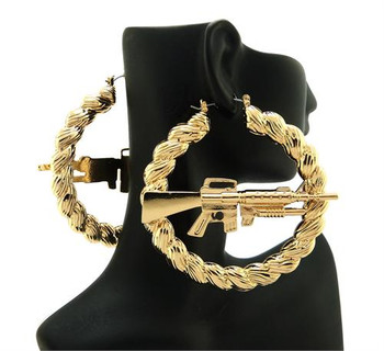 Rifle Gold Hoop Earrings