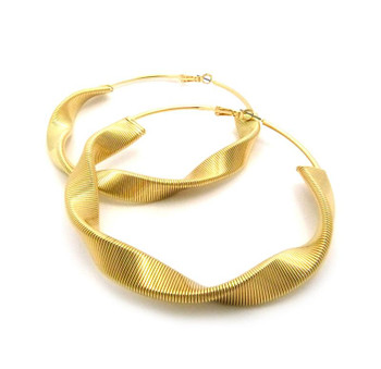 Twisted Gold Hoops 2