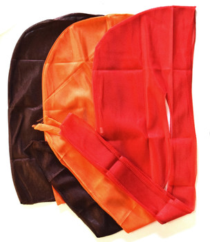 Solid Silky Du-rags Brown Orange Red