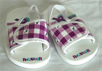 Rocawear Purple Plaid Baby Sandals