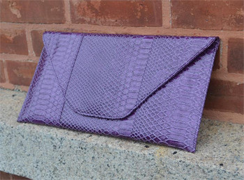 Purple Snake Clutch Handbag