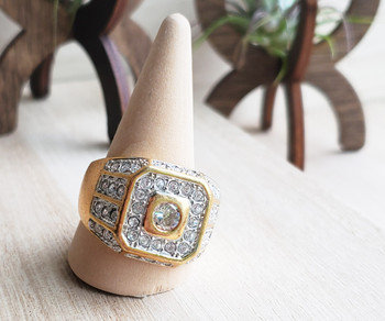 Squared Iced Out Mens Ring