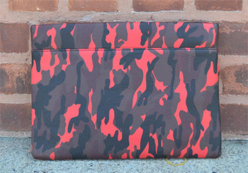 Red Camouflage Envelope Clutch