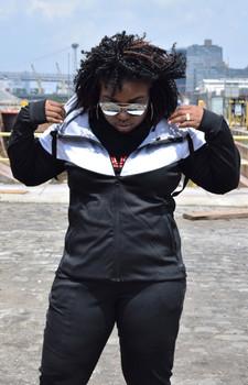 Just Chilling Black V Style Sweatsuit Set