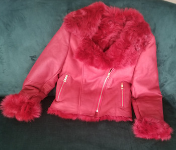 Red Ladies Shearling Jacket