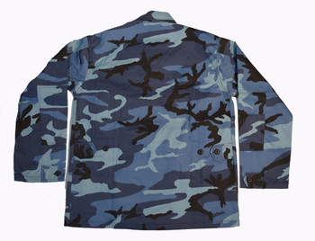 Blue Camo Shirt Jacket