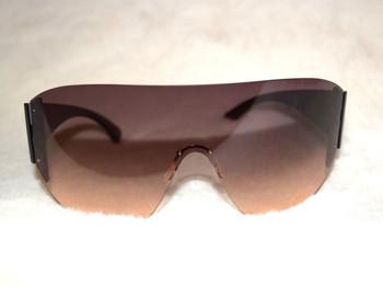 Oversized Goggle Sunglasses Dark Ombre