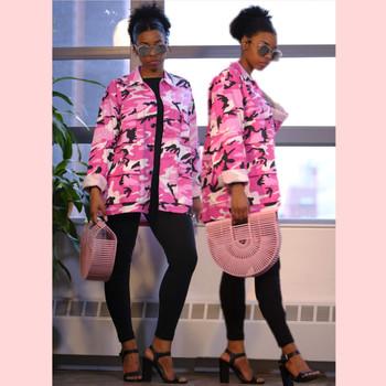 Camo Pink BDU Military Shirt Jacket