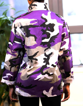 Purple Camo BDU Military Shirt Jacket