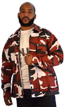 Red BDU Camo Shirt Jacket