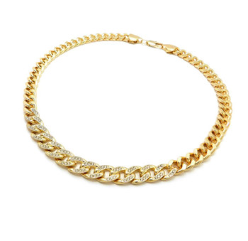 Gold Cuban Link U Chain