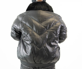 Black V Style Bomber Jacket