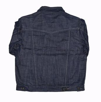 Blue Gray Stitched G Gator Jean Jacket  Big and Tall