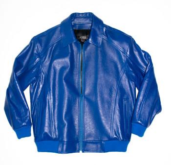 It's the 90s Royal Blue Baseball Leather Jacket