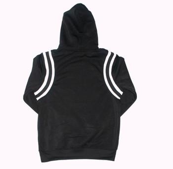 Side Striped Black Hoodie