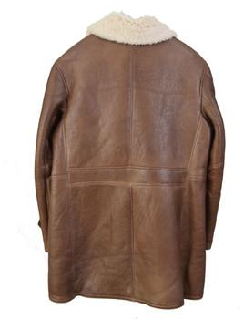 Brown Men's Trench Sheepskin Coat
