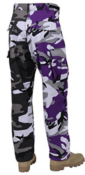 Two Tone Purple and Gray BDU Pants