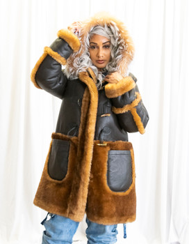 Brown Inside Out Sheepskin Jacket