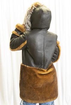 Brown Inside Out Sheepskin Jacket