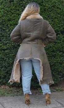 High Low Ladies Sheepskin Jacket