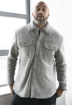 Lightweight Gray Sheepskin shirt