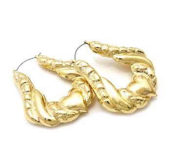 Gold Plated Doorknocker Earrings