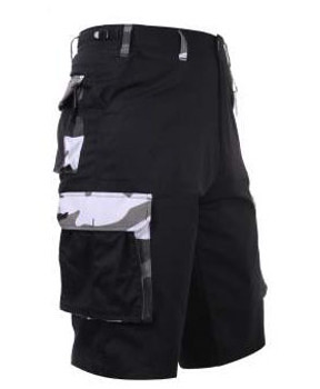Black Camo Accent Cargo Shorts