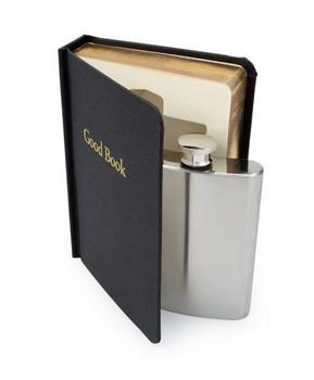 The Good Book Hidden Flask