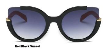 Women Round Cat Eye Sunglasses