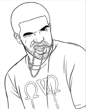 Drake in Bun B's Rap Coloring and Activity Book