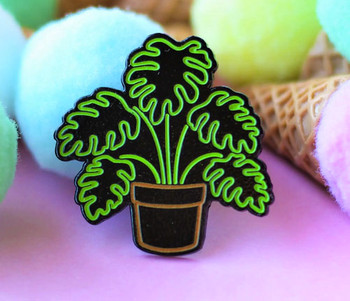 Neon Monstera Plant Glow in the Dark