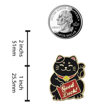 Chinese Fat Cat Good Luck Pin