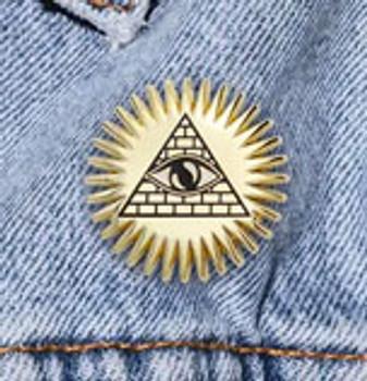 Pyramid & Eye Pin