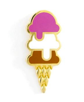 Ice Cream Cone Pin