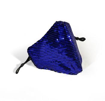 Royal Blue Sequin Face Mask