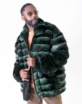 Green Chinchilla Fur Jacket