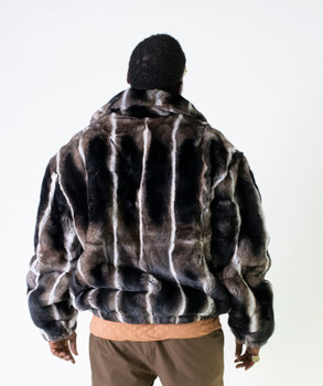 Multi Brown Rex Rabbit Fur Jacket