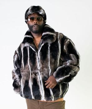 Multi Brown Rex Rabbit Fur Jacket