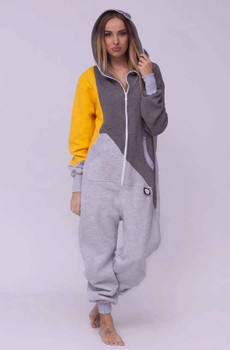 Tricolor Onesie Sunny With Yellow Sleeve For Women