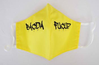Dripping BacDaFucUp Face Mask Yellow
