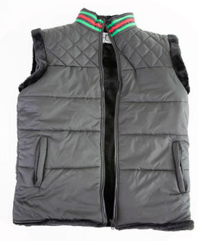 Puffer Faux Fur lined Nylon Vest