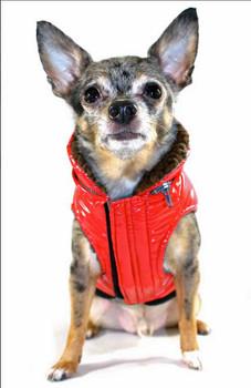 Dog Elite Reflective Coat - Red