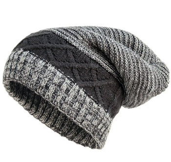 Slouchy knit winter beanie hat