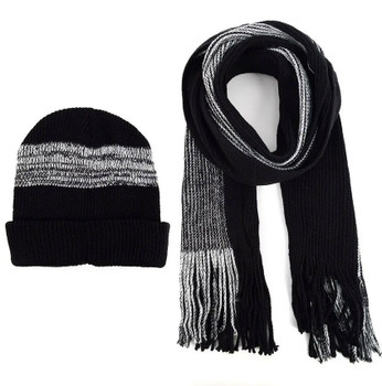 Striped Winter Hat and Scarf set