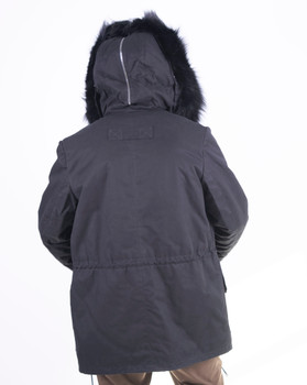 Fox Trim Lined Parka with split Hood